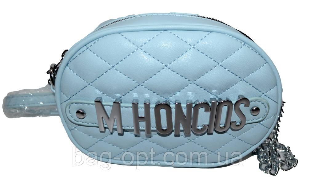 Женский клатч на пояс с длинным ремешком Moschino (12*18*6)