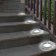 Уличный светильник   Светильник на солнечной батарее Solar Disk Lights 4 шт