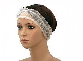 Повязка одноразовая для волос, спанбонд (10шт/уп)