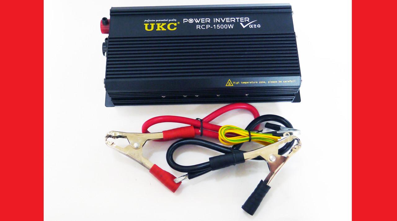 AC/DC RCP 1500W PROFESSIONAL преобразователь напряжения 12-220V