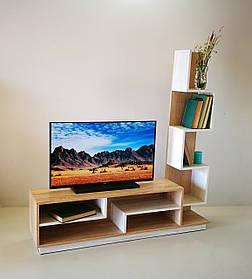 Витрина ТВ3 Дуб сонома+Дуб атланта (Микс-мебель ТМ)