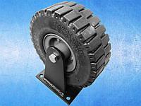 Колесо 3.00-4 (250х80) с фиксированным кронштейном (м/о) для тачек и тележек