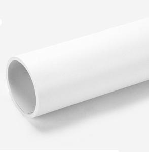 Білий матовий ПВХ (вініловий) фон Puluz для предметної фото та відео зйомки 200 х 120 див.