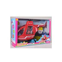 Вертолет Кукла DEFA 8422-BF красный