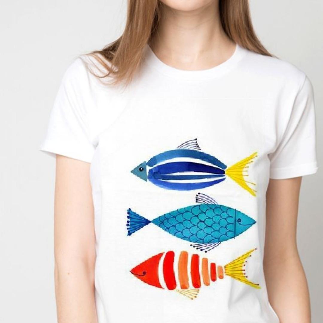 Футболка женская рыбки