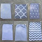 Эко мешочки для вещей и продуктов, екоторбинка, хлопковый мешочек многоразовый для хранения  20*30 см, фото 6