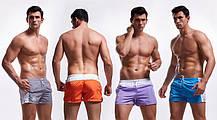 Мужские Пляжные Короткие шорты, для купания, плавания,  AQUX (карман, сетка) Синие \ чоловічі шорти пляжні, фото 3