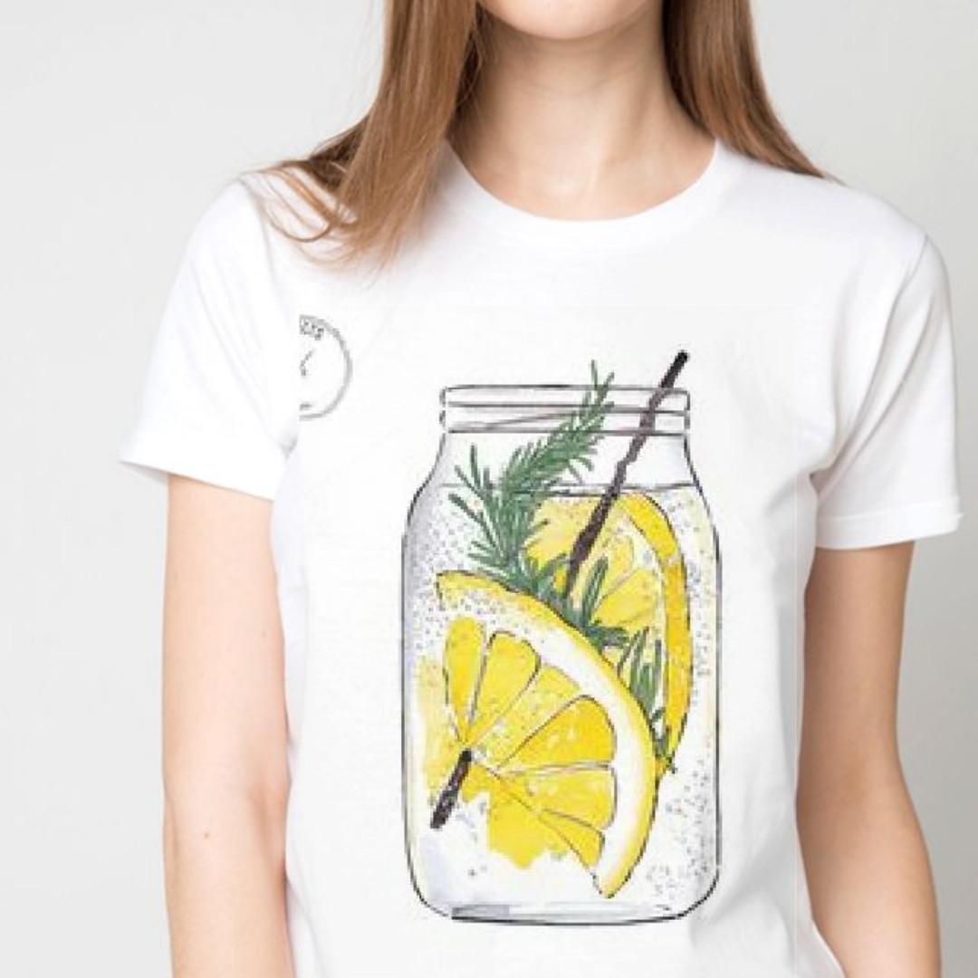 Футболка женская лимонад в банке