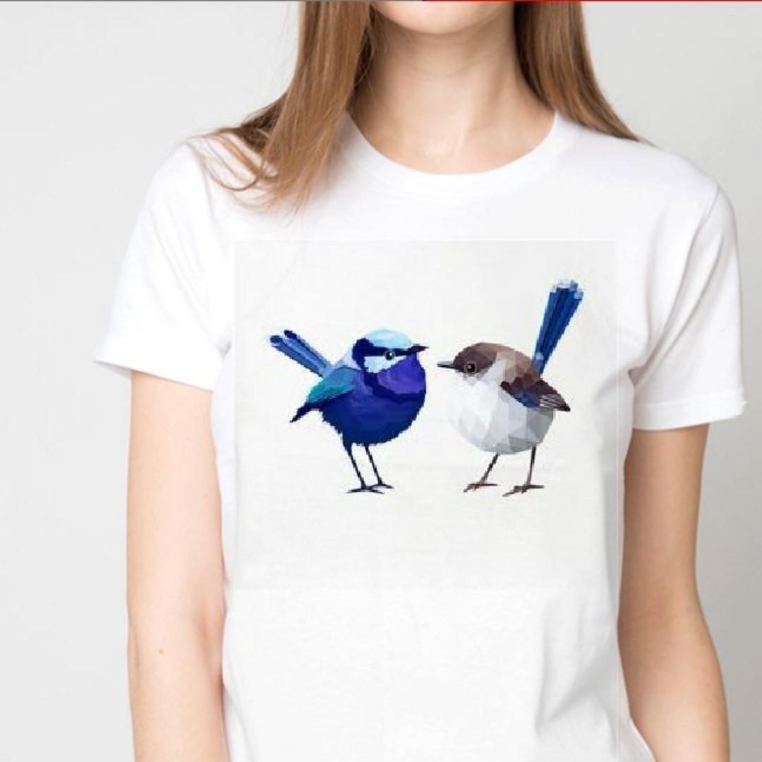 Футболка женская две птички