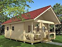 Дом деревянный из профилированного бруса 5.6х6.4. Кредитование строительства деревянных домов