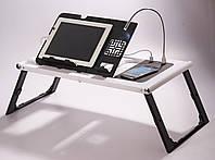 🔥 Cтолик для ноутбука с охлаждением 2 USB кулерами LD 09 E-TABLE, подставка столик для ноутбука