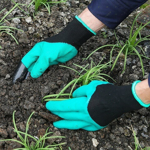 🔥 Садовые перчатки с когтями для сада. Garden Genie Gloves