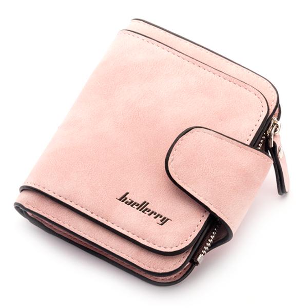🔥 Женский кошелек Baellerry Forever Mini N2346 Персиковый (пудровый) цвет