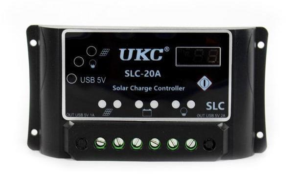 🔥 Солнечный контроллер Solar controler 20A для солнечных панелей установок