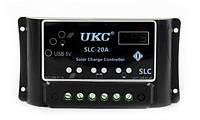 🔥 Солнечный контроллер Solar controler 20A для солнечных панелей установок, фото 1