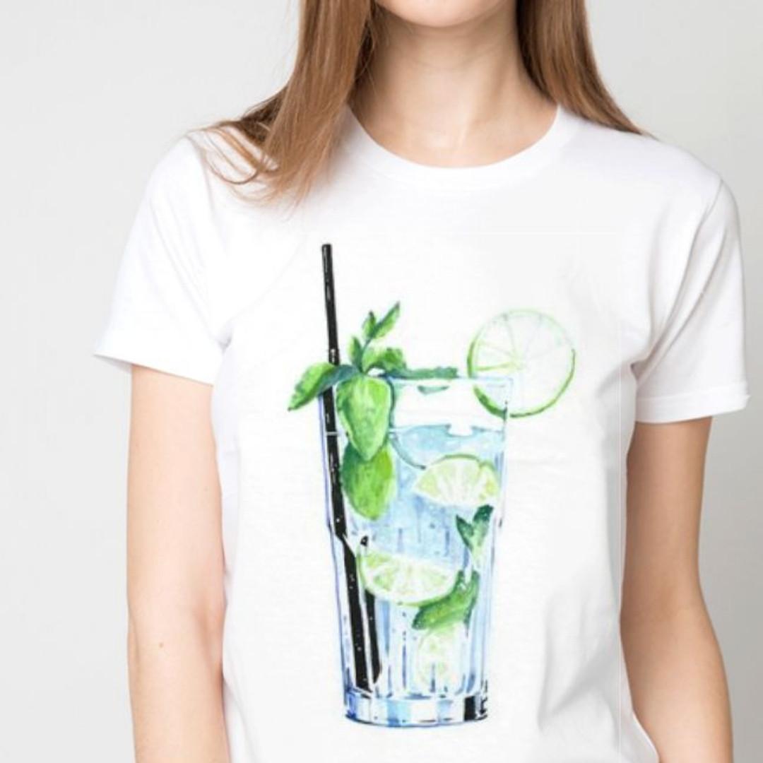 Футболка женская  стакан махито