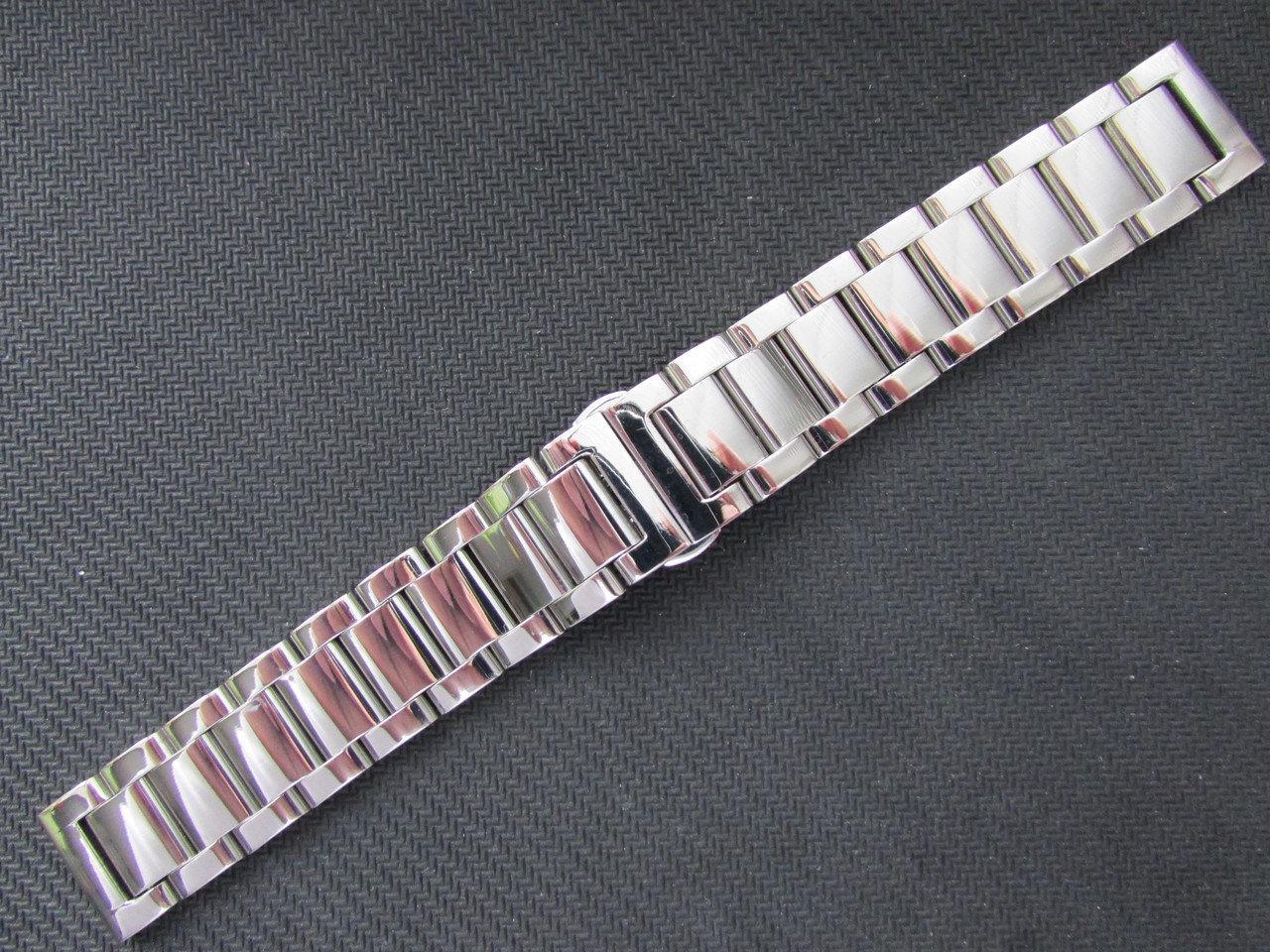 Браслет для часов из нержавеющей ювелирной стали 316L, литой, глянец. 20 мм