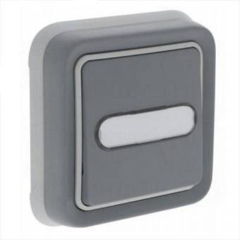 Вимикач кнопковий з підсвіткою 12В в комплекті,  Н.О.+Н.З., з тримачем етикетки