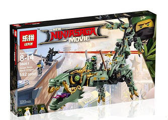 Конструктор Lepin «Механический Дракон Зелёного Ниндзя» 592 дет.