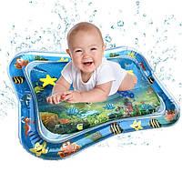 Надувной детский водный коврик Подводный мир