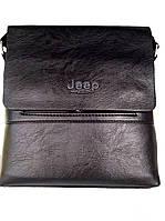 Мужская сумка Jeep Bulu. Цвет черный, коричневый