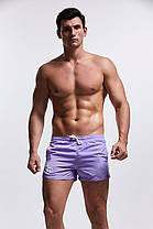 Мужские Пляжные Короткие шорты, для купания, плавания,  AQUX (карман, сетка) фиолет\ чоловічі шорти пляжні, фото 3