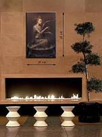 Картина 38х58 см на холсте «Девушка и арфа»