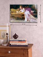 Картина 38х58 см на холсте «Девушка с книгой»