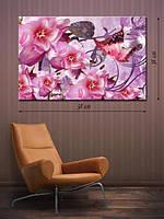Фотографическая картина «Розовые цветы в саду»