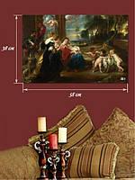 Картина 38х58 см на холсте «Ангелы и люди»