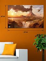 Фотографическая картина «Извержение вулкана»