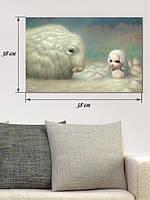 Фотографическая картина «Ангел и барашек»