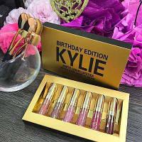 🔥 Матовые Помады Kylie Jenner GOLD! Помады Кайли Золотые Дженнер Голд! Палетки, помадки, 6 штук в наборе!