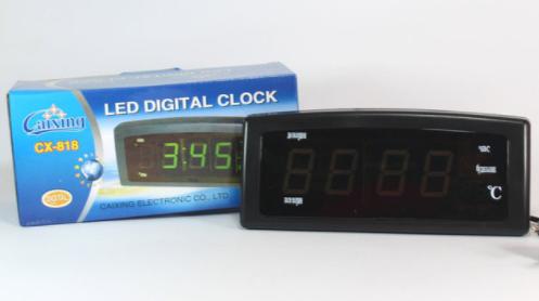 🔥 Электронные настольные Часы Caixing CX 818, сетевые часы, электронный будильник