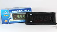 🔥 Электронные настольные Часы Caixing CX 818, сетевые часы, электронный будильник, фото 1