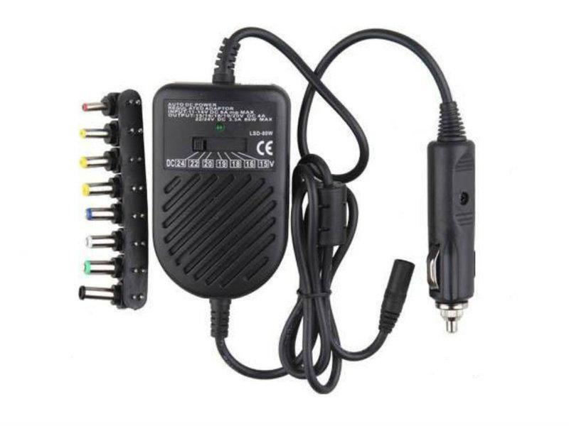 🔥 Универсальное автомобильное зарядное для ноутбука Адаптер 80W Note book car charge
