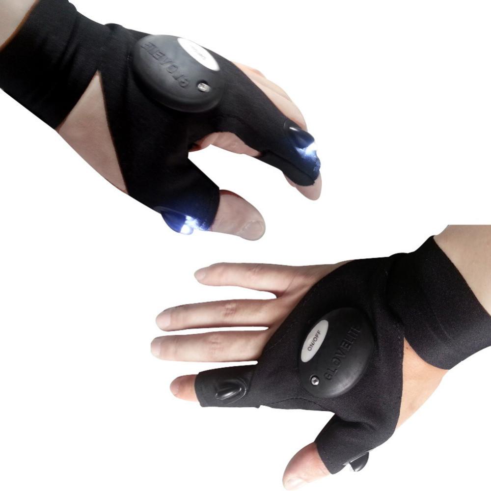 🔥 Перчатка с подсветкой на пальцах Hands Free