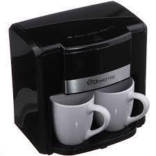 🔥 Капельная кофеварка Domotec 0708 с двумя фарфоровыми чашками в комплекте