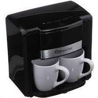 🔥 Капельная кофеварка Domotec 0708 с двумя фарфоровыми чашками в комплекте, фото 1