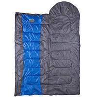 Спальник одеяло серо-синий GreenCamp (450гр/м2)