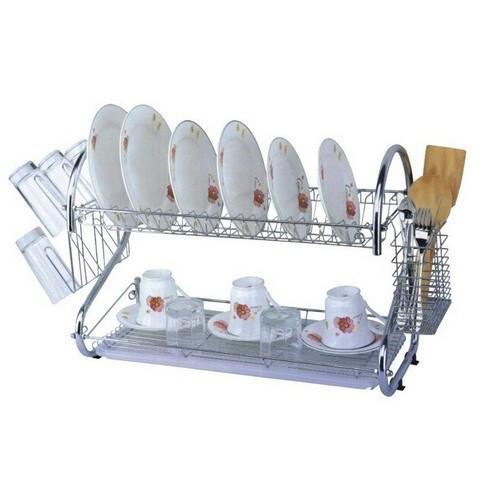 🔥 Функциональная сушилка для посуды UNIQUE 2002 металлическая