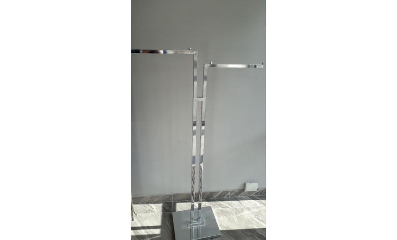 Вішалка для одягу напольна пряма з регулюванням висоти