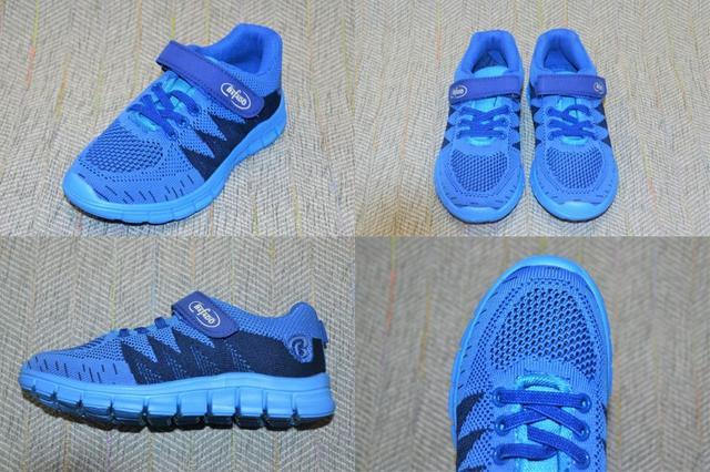 Детские кроссы с липучкой, Befado синие фото