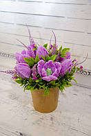 Букет цветов из мыла ручной работы. 7 тюльпанов
