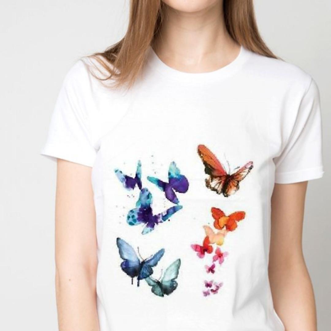 Футболка жіноча з принтом метелики