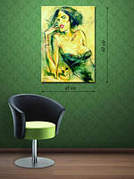 Картина 48х68 на холсте «Экстравагантная дама»