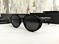 Очки унисекс солнцезащитные с  шорами с черными линзами матовые (реплика), фото 1
