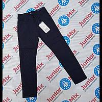 Подростковые котоновые брюки  темно синего цвета в мелкую полоску для мальчиков GRACE