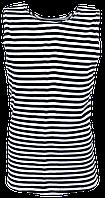 Майка-тельняшка черная полоска (баталы)