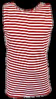 Тельняшка-майка красная полоска (баталы)